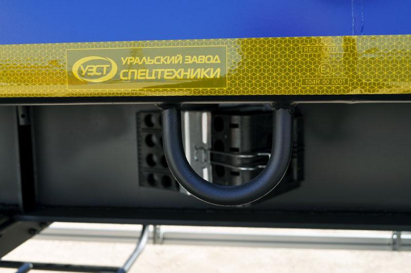 Увязочные кольца по боковому лонжерону снизу бортового полуприцепа