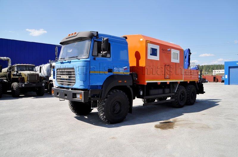 Агрегат для ремонта и обслуживания качалок Урал 4320-4972-82М с КМУ АНТ 4.4-1