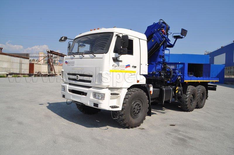 Агрегат транспортировки барабанов и насосов АТЭ-6 Камаз 43118-3027-46 с КМУ АНТ 22-2