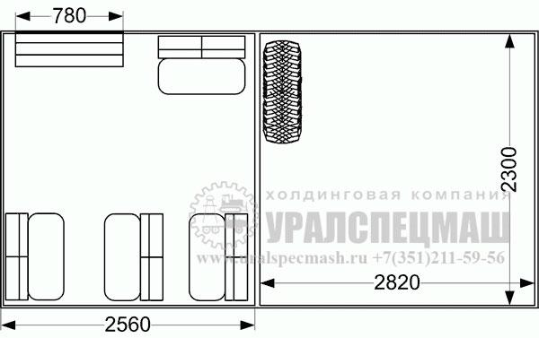 Планировка грузопассажирского автомобиля ГПА Урал 325512-0010-59