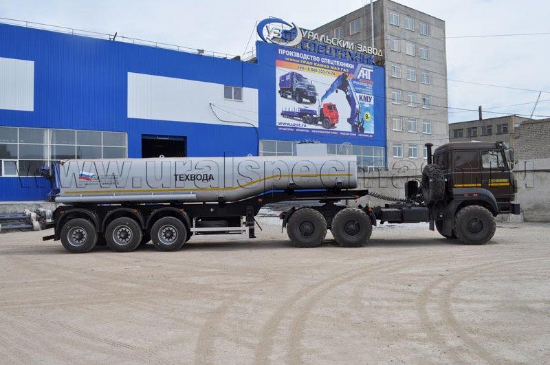 Трехосный полуприцеп-цистерна для технической воды УЗСТ-ППЦ-25 м³