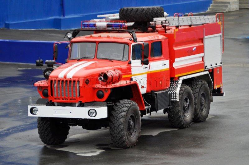 Пожарная автоцистерна – АЦ-6,0-40 Урал 5557-1112-70М