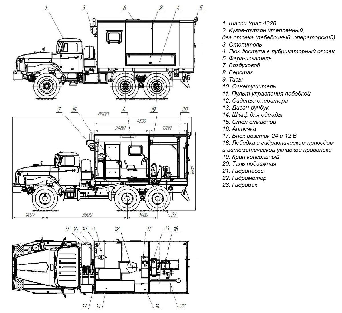 Планировка АИС-1 Урал 4320-1112-61Е5