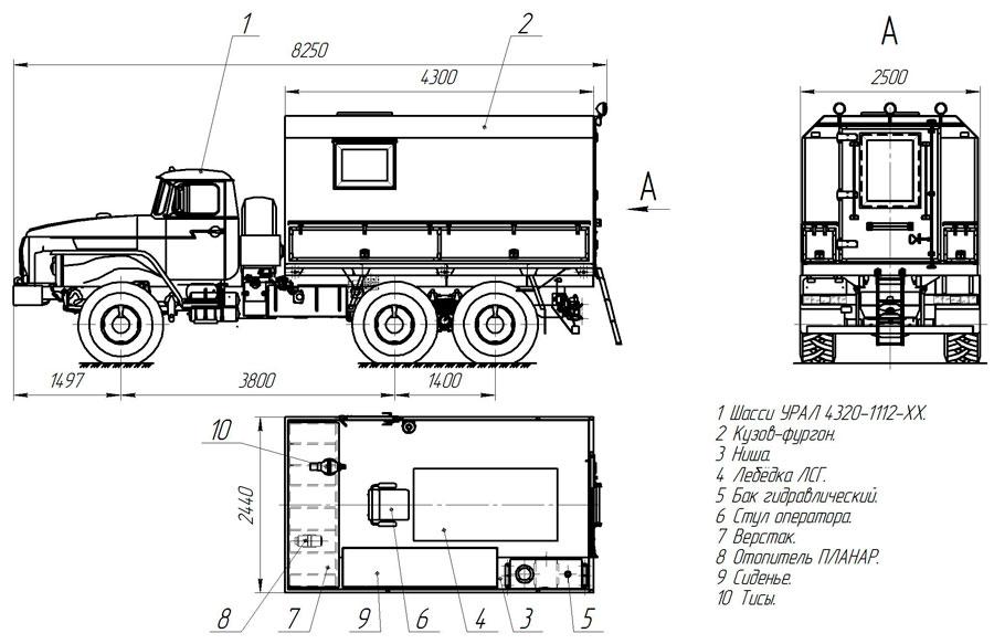 Планировка исследования скважин АИС-1 Урал 4320-1112-61Е5 (002)