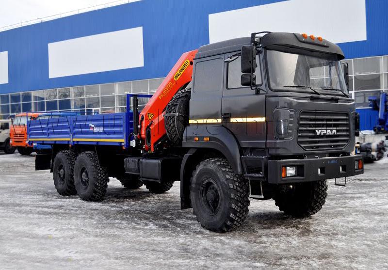 Бортовой автомобиль Урал 4320-4971-80М с КМУ Palfinger 15500A