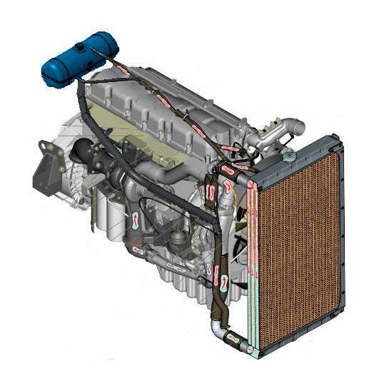 Система охлаждения автомобиля Урал С35510