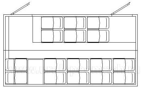 Планировка грузопассажирского автобуса ГПА Камаз 43118-50 – 16 мест