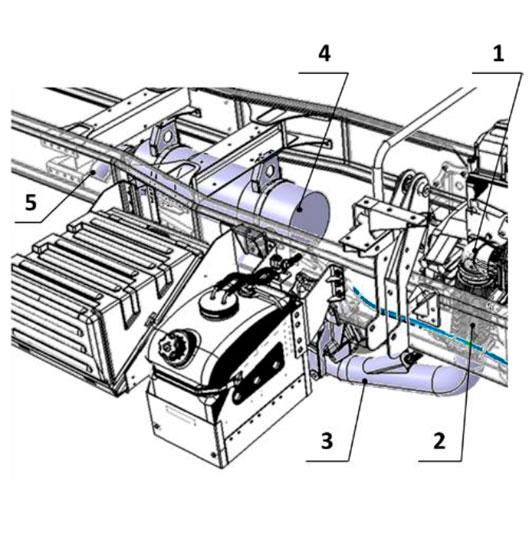 Система выска отработавших газов автомобиля Урал С35510
