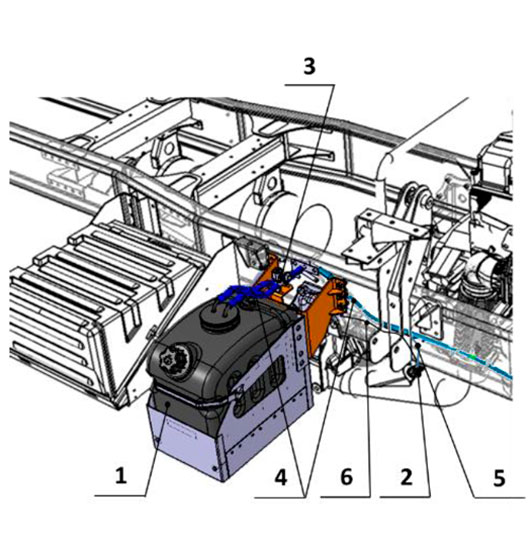 Система нейтрализации отработавших газов автомобиля Урал С35510