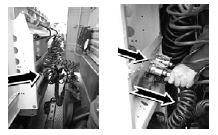 Проверка состояния шлангов подсоединения тормозной системы полуприцепа, жгутов соединительных проводов