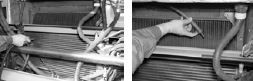 Очистка гофрированных пластин теплообменника охладителя надувочного воздуха продувкой сжатым воздухом