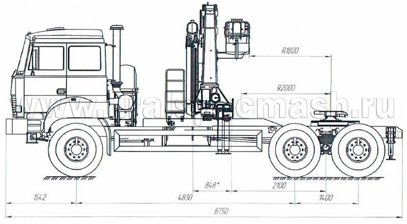 Седельный тягач Урал 4320-4972-80Е5 с КМУ ИМ-240-4