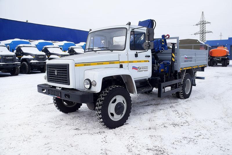Бортовой ГАЗ 3309 с КМУ