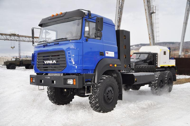 Шасси Урал 4320 с бескапотной кабиной