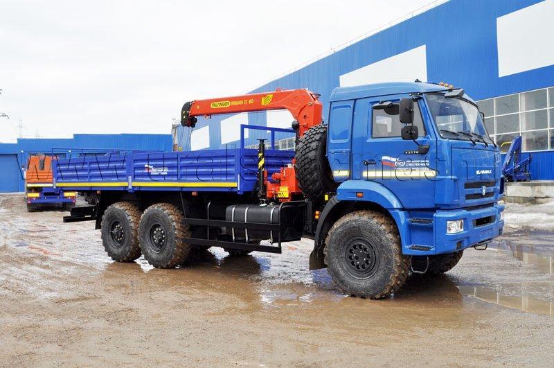 Бортовой Камаз 43118 с КМУ ИТ-80 (г/п 3 т.)