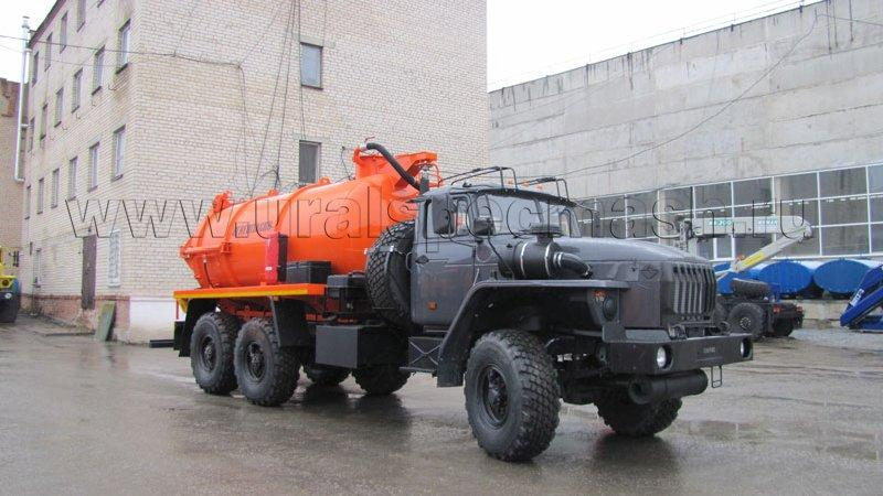 АКНС-10 Урал 4320-1912-60Е5 (КО-505, гидроподъем цистерны и днища)