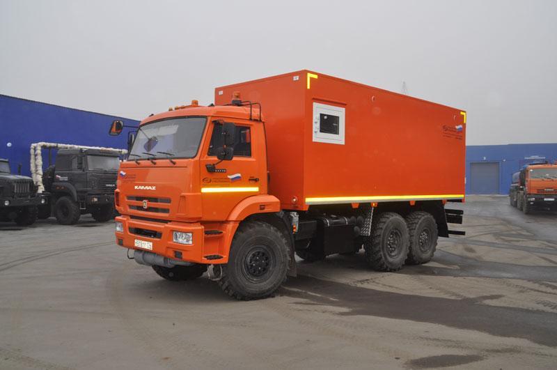 Автомобиль для перевозки взрывчатых веществ Камаз 43118-3017-50