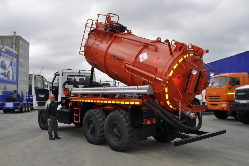 АКНС-10 Урал-NEXT 4320-6952-74Е5Г38 (PNR-122, гидроподъем цистерны и днища)