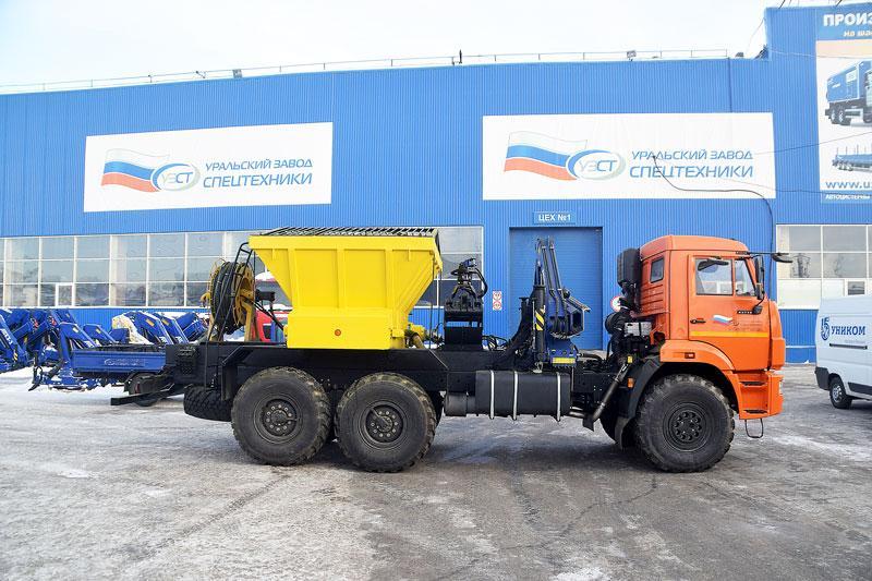 Забоечная машина ЗС-1М Камаз 43118-3027-46 с КМУ АНТ 5-2
