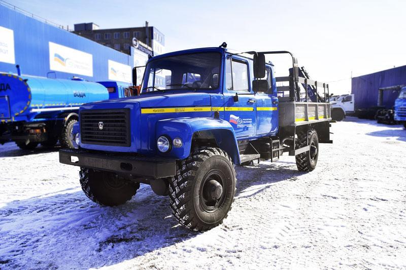 Бортовой ГАЗ 33088 с КМУ АНТ 1.8-2 (002, г/п 1 т.)