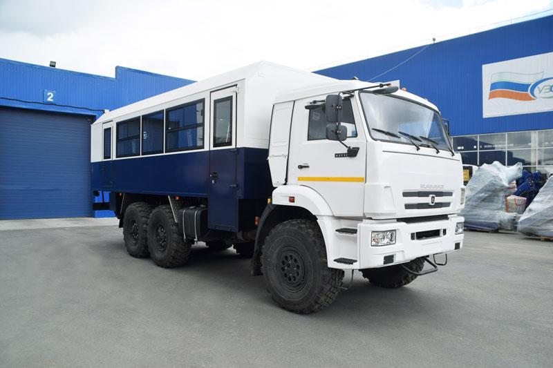 Вахтовый автобус Камаз 43118-3027-50 (002) – 22 места (с грузовым отсеком)