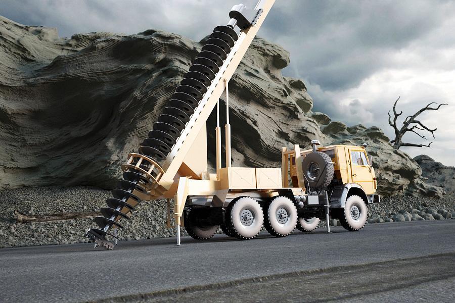 Бурильно-крановая машина БКМ-2014