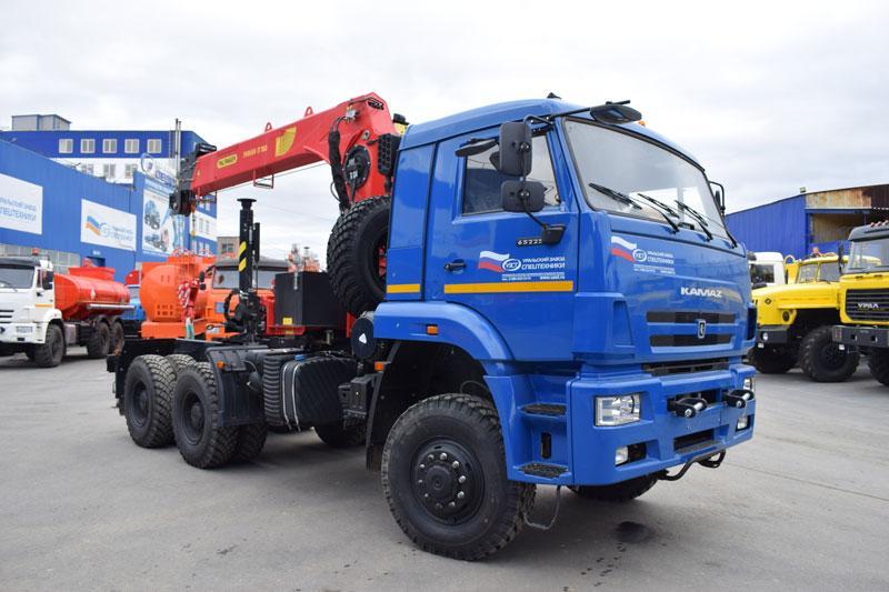 Седельный тягач Камаз 65225-6141-53 с КМУ ИТ-180 (020, г/п 7,2 т.)