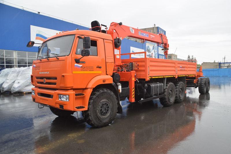 Бортовой Камаз 43118-3027-50 с КМУ Kanglim KS1256G-II (26)