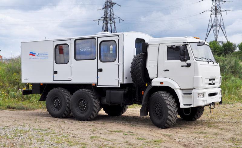 Вахтовый автобус Камаз 5350-66(D5) – 8+2 места (с грузовым отсеком)