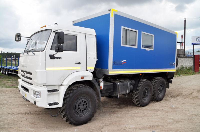 Вахтовый автобус Камаз 5350-3025-42 – 8 мест (с грузовым отсеком)