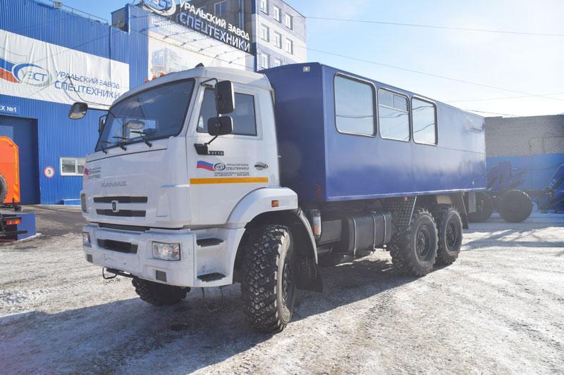 Вахтовый автобус Камаз 43118-3027-50 – 12+2 места (с грузовым отсеком)