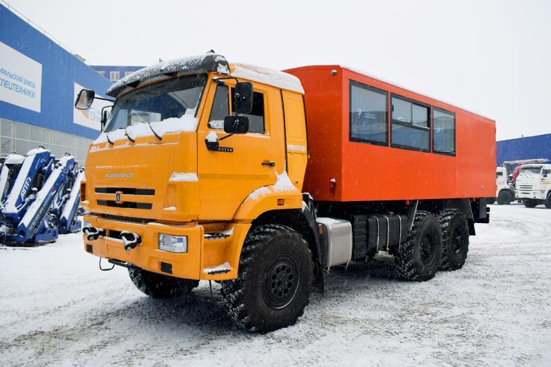 Вахтовый автобус Камаз 43118-3011-50 (001) – 12 мест (с грузовым отсеком)