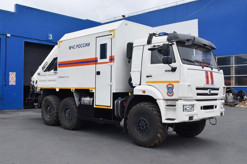 Грузопассажирский аварийно-спасательный автомобиль Камаз 43118-3027-50 с КМУ АНТ 8.5-2 (001, г/п 4 т.)