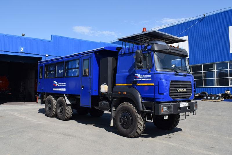 Вахтовый автобус Урал 4320-4972-16И03 – 20+2 места
