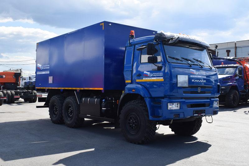 Автомобиль для перевозки взрывчатых веществ Камаз 43118-3049-76(RR) (003-10)