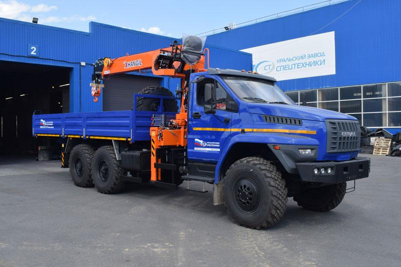 Бортовой Урал-NEXT 4320-6952-72Е5Г38 с КМУ Hangil HGC 756 (г/п 7,5 т.)