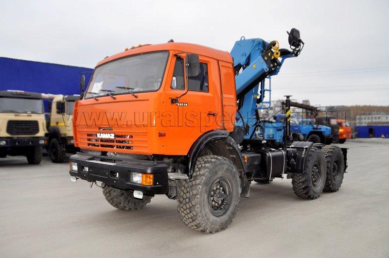 Седельный тягач Камаз 43118 с КМУ ИМ-95
