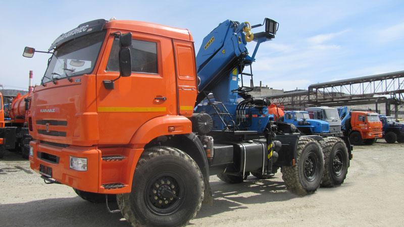 Седельный тягач Камаз 43118 с КМУ ИМ-150 (г/п 6 т.)