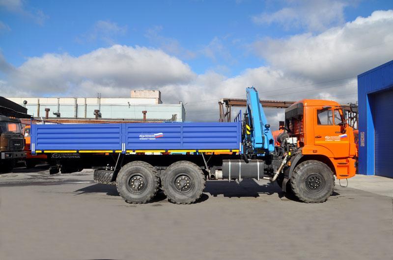 Бортовой Камаз 43118 с КМУ ИМ-95 за кабиной