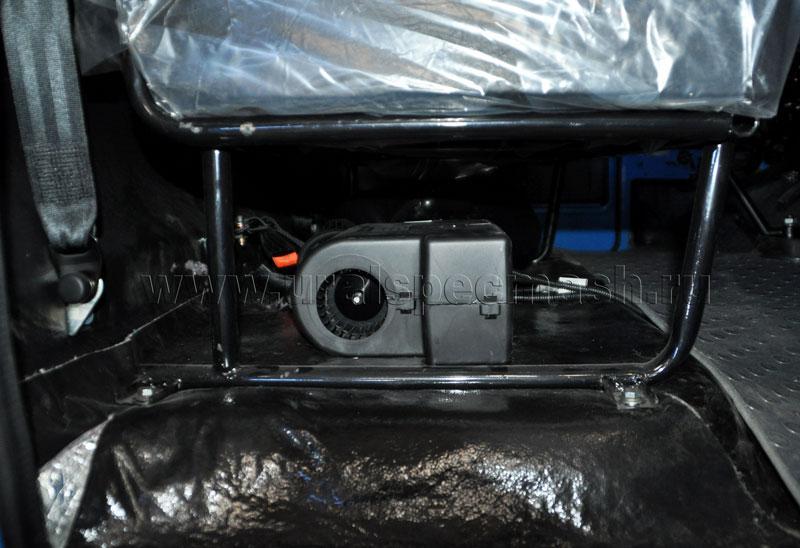 Установка отопителя Eberspacher Xeros 4000 24В с решеткой