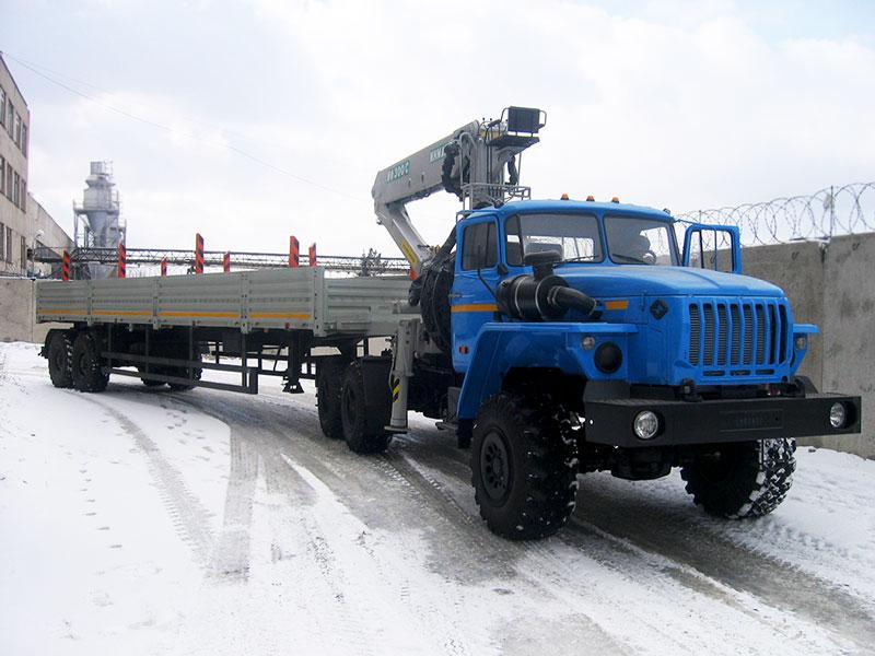 Седельный тягач Урал 4320-1912-60Е5 с КМУ ИФ-300