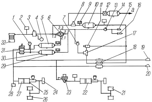 Схема тормозного крана прицепа 280